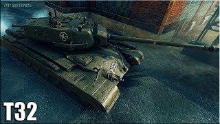 Т32 ТАНКУЕТ и ДАМАЖИТ (не топ) карта: Хайвей 🌟🌟🌟 World of Tanks лучший бой на тт 8 уровня T32