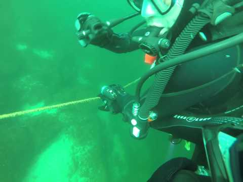 Scuba Diving emergency, out of air in a fast current! St. Lawrence River