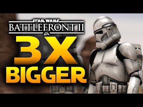 MORE THAN 3X BIGGER GAME! - Star Wars Battlefront 2 News