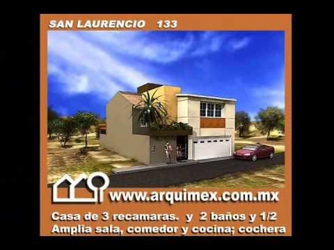 Planos de casas modelo san laurencio 133 arquimex planos for Planos de casas youtube