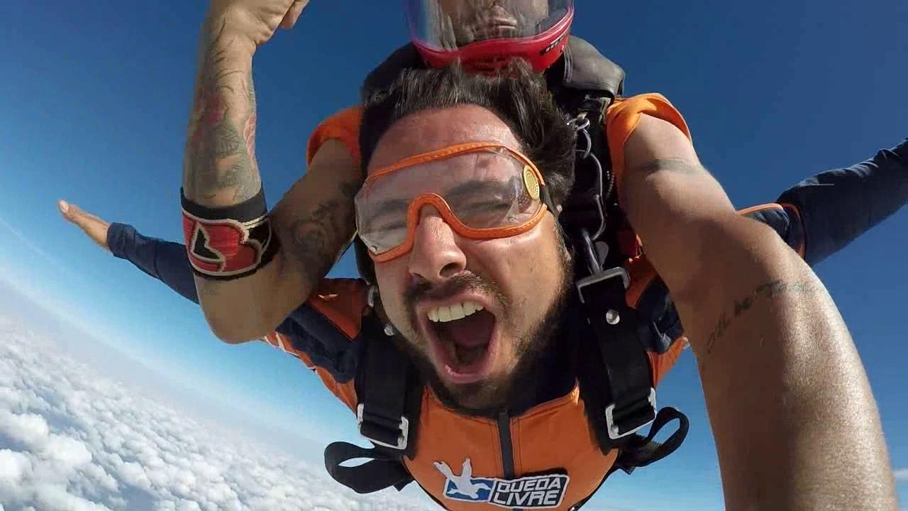 Salto de Paraquedas do Luiz P na Queda Livre Paraquedismo 15 01 2017