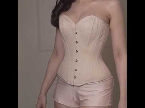 7e644aba42 PINKY BEIGE COTTON TWILL CLASSIC OVERBUST WAIST TRAINER WITH HIP GORES