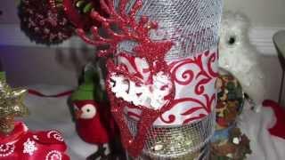 25 Days of Christmas Crafts Day #20  DIY Dollar Tree Apothecary Jars