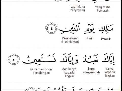 Surah Al Fatihah Per Kata