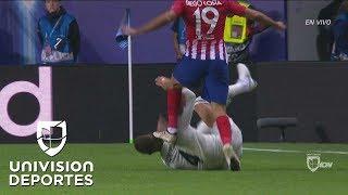 Temible patada de Diego Costa a Sergio Ramos - Súper Copa de la UEFA