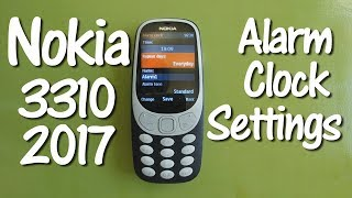 How to Set the Alarm Clock on the Nokia 3310 2017 2G Cell Phone