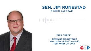 Sen. Runestad spoke with WWJ on mail theft legislation