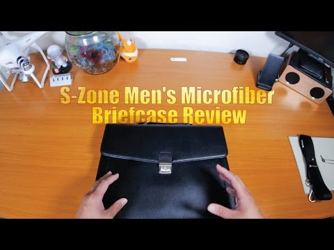 S-Zone Men's Microfiber Briefcase Review