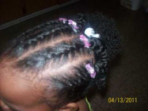 Braiding Styles For Black Little Girls With Natural Or