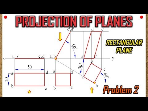 PROJECTION OF PLANES_Recreated_Lecture 2 - Rectangular Plane with surface & edge inclined to HP & VP