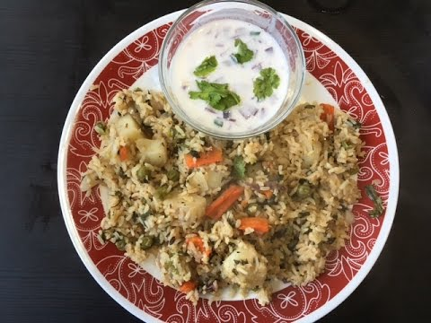 vegetable-pulao/vegetable-rice-with-sona-masoori-rice-along-with-raita-preparation-in-a-simple-way