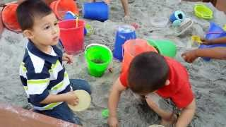 Kids Play In The Sand Box Silver Bear Preschool