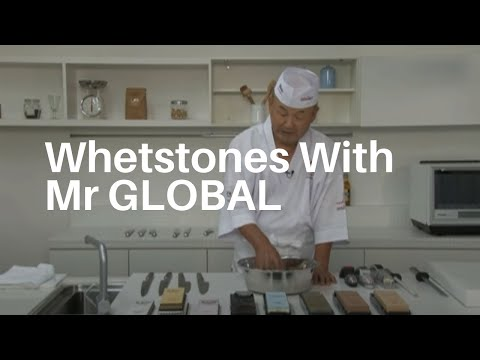 How To Use Global Knives Whetstones & Ceramic Stones with Mr Global