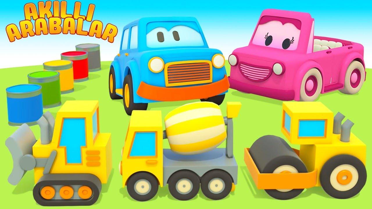 Çizgi film Akıllı arabalar. İş arabalar! Çocuklar için eğitici dizi Türkçe izle