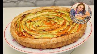Итальянский Овощной Тарт. Открытый пирог с кабачками и морковкой.