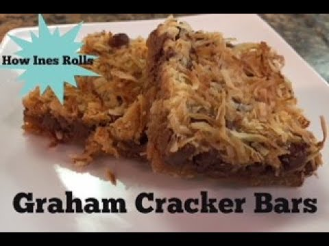 GRAHAM CRACKERS BARS   Easy Dessert Tutorial   *How Ines Rolls*