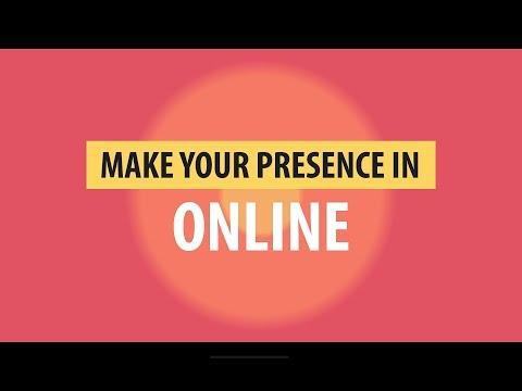 Make your presence in Online - Create Website