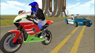 MOTOR BIKE RIDER Vs. POLICE CAR CHASE SIMULATOR - BIKE & CAR RACING GAMES For Kids - SIMULATOR GAMES
