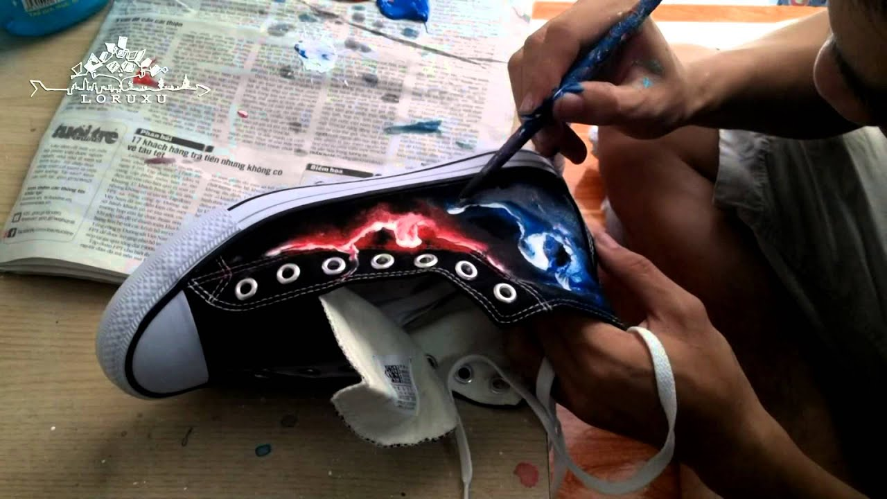DIY Galaxy Converses – Vẽ Giày ^^ The Shoe Shop