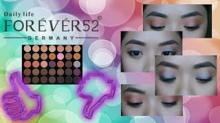 FOREVER52 eyeshadow palette REVIEW(Tagalog)