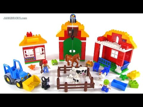 Lego Duplo 10525 Big Farm Set Review Youtube