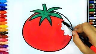 ОВОЩНЫЕ УРОКИ 🍅 | Раскраски | Изучение раскраски