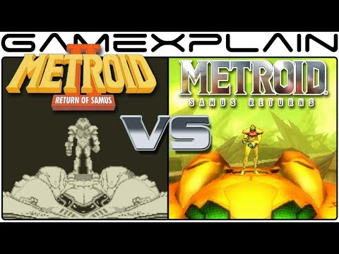 Metroid: Samus Returns Vs Metroid II: Return of Samus - Graphics Comparison (3DS vs Game Boy)