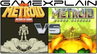 Metroid: Samus Returns Vs Metroid II: Return of Samus - Graphics Comparison (3DS vs Game Boy)