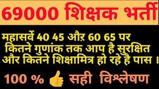 महासर्वे 69000 शिक्षक भर्ती । 60 65 cutt off पर कौन कौन पास । 40 45 cutt off । 69000 latest news ।