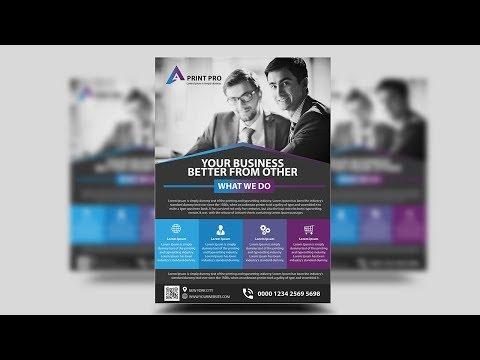 Modern Corporate Flyer Design   Photoshop Tutorials