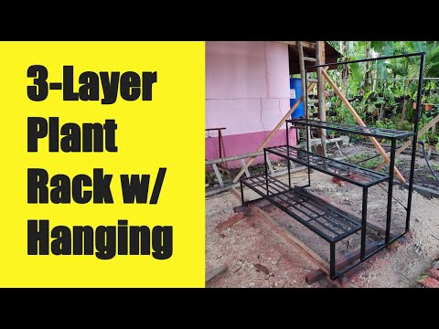 3 Layer Plant Rack With Hanging Area - Design #2
