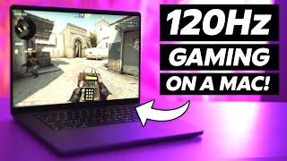 120Hz GAMING on tнe NEW M1 Pro MacBooks! (CS:GO and Fortnite)