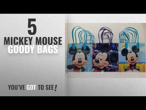 Top 10 Mickey Mouse Goody Bags [2018]: Disney Mickey Mouse Reusable Party Favor Goodie Small Gift