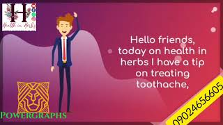 Herbal treatment recipe for toothache