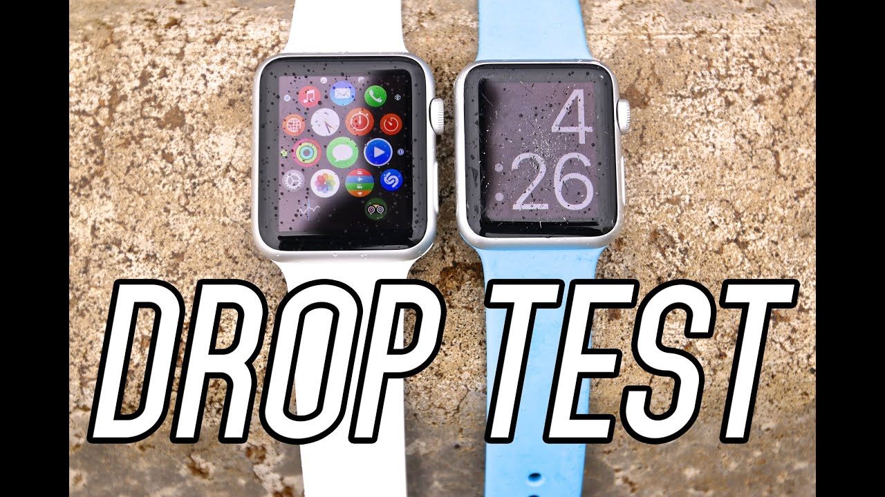 apple watch sport drop test durability scratch test. Black Bedroom Furniture Sets. Home Design Ideas
