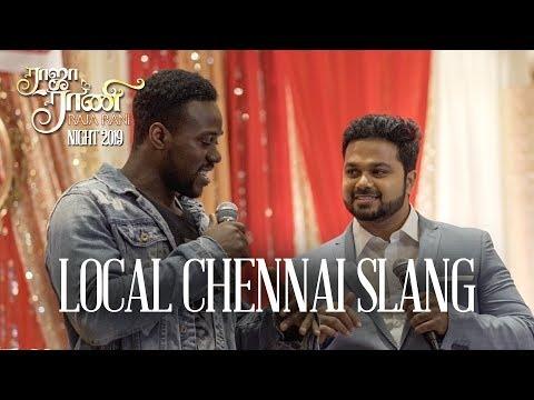 SANJEEV (Karthick) teaches ZAZU Local CHENNAI Tamil + Special NERUPPUDA Performance!