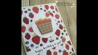 Fruit Basket SWEET card- Facebook Live