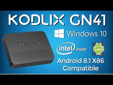OMG!!! KODLIX GN41 Intel Windows 10 Mini PC -  Dual Boot Android 8.1 X86 Super TV Box Destroyer