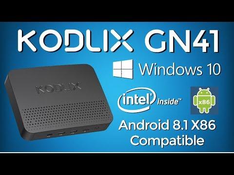 OMG!!! KODLIX GN41 Intel Windows 10 Mini PC - Dual Boot Android 8 1 X86  Super TV Box Destroyer
