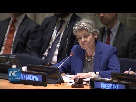 Irina Bokova Highlights Women's Rights in UN Chief Audition