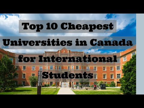 Top 10 Cheapest Universities In Canada For International Students #cheapestuniversities