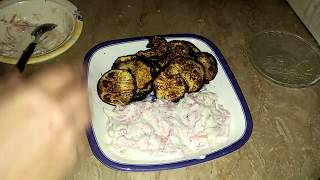 Tawa grill bringels Curd coleslaw Tea time snack and weightloss meal recipe by Maria