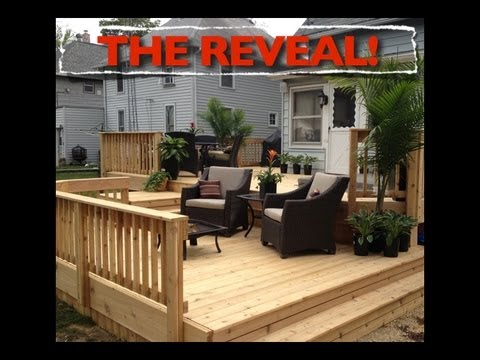 700 Sq Ft 700 sq ft deck! - the reveal! - youtube