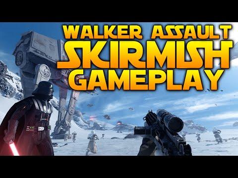 Star Wars Battlefront: WALKER ASSAULT SKIRMISH GAMEPLAY [All Difficulties & Versus]
