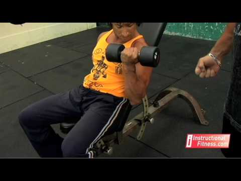 Instructional Fitness - Incline Dumbbell Curls