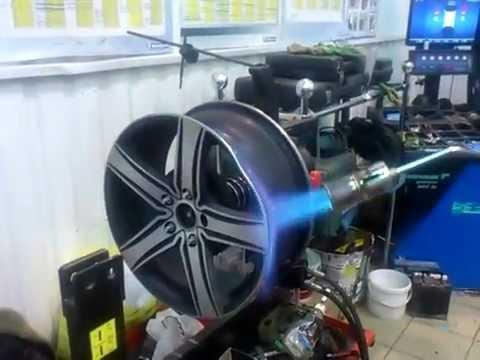 Технология правки литых дисков