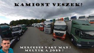 A kamionos 1 napja - A szemlész - Mercedes vagy MAN