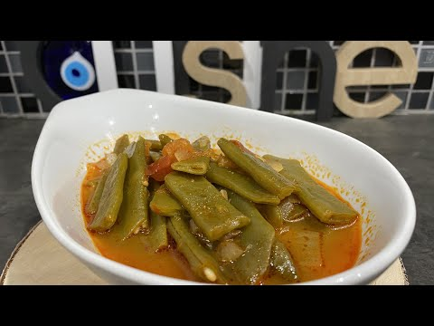 🇫🇷-🇧🇪-recette-végétarienne-,-haricots-verts-à-la-tomate-,-taze-fasulye-👌-:-recette-facile-ela