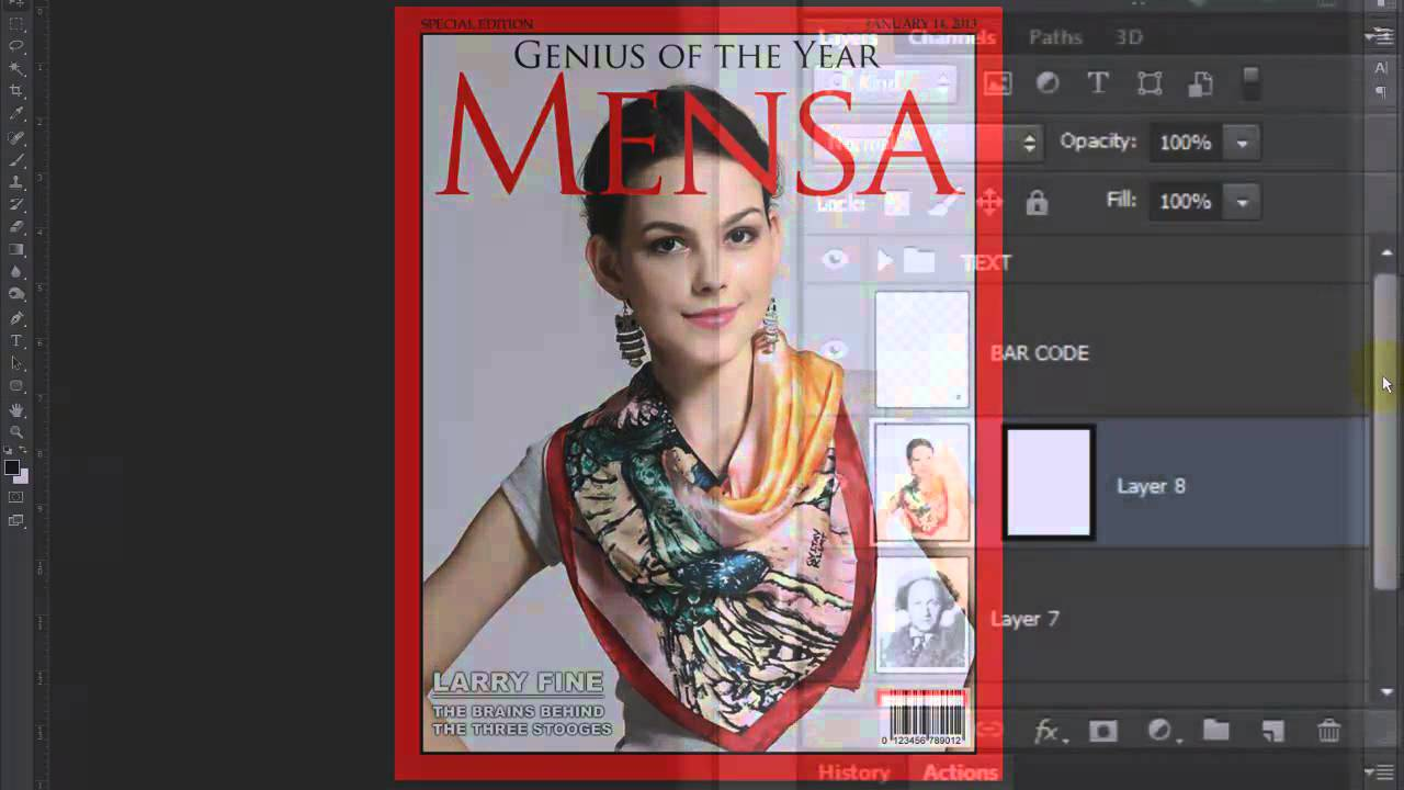 Photoshop Tutorial How To Make A Custom Magazine Cover From A Photo Of Someone Youtube
