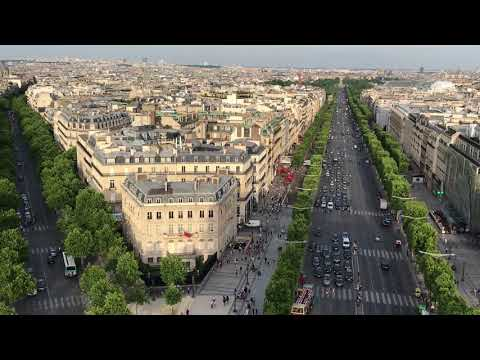 On top of the Arc De Triomphe 2017